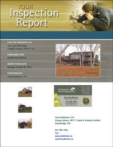 Sample Cottage Inspection Report